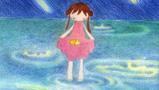 春雨里的小女孩