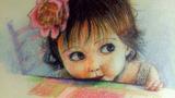 餐桌旁的小女孩