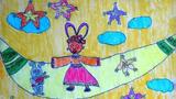 儿童画嫦娥-嫦娥也回家过中秋