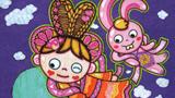 儿童画嫦娥-嫦娥玉兔闹中秋