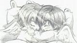 美丽的天使儿童画-睡梦中的天使