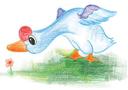 可爱的小鸭子_起跑线儿童画