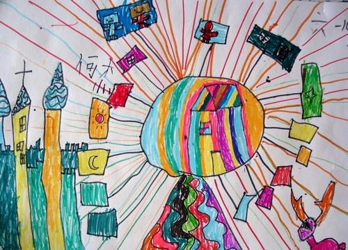 儿童画城堡图片大全-游乐城堡