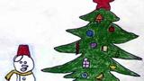 圣诞雪人和圣诞树