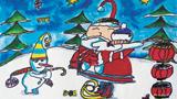 圣诞老人和雪人