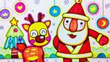 可爱的圣诞老人和圣诞鹿