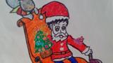 圣诞老人坐车
