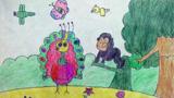 孔雀与猴子