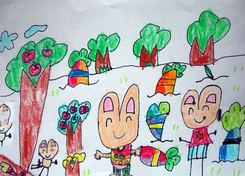 simag童趣小兔子儿童双肩书包幼儿可爱卡通背包
