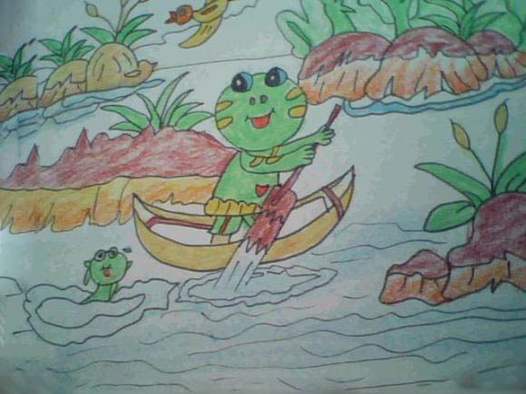 划船的小青蛙