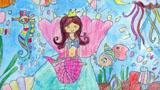 美人鱼儿童画-美人鱼公主和朋友们