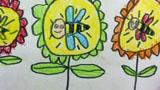 采蜜中的小蜜蜂
