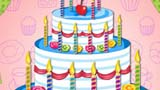 大蛋糕儿童画-好吃的蛋糕