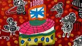大蛋糕儿童画-美味的蛋糕来了