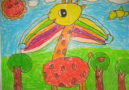 儿童蜡笔画图片大全动物园