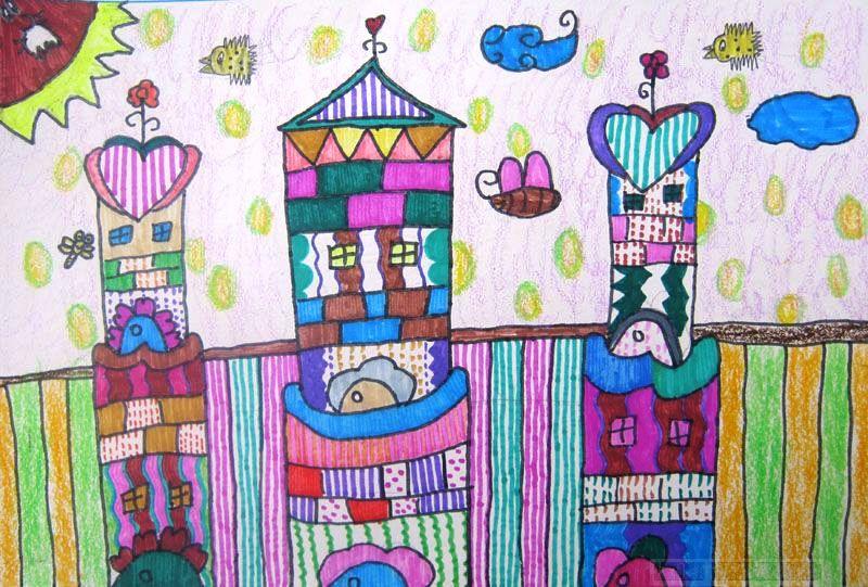 兒童畫城堡圖片大全-公主的城堡