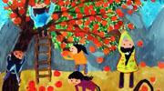 春夏秋冬儿童画-丰收的秋天