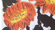春夏秋冬儿童画-秋天的向日葵