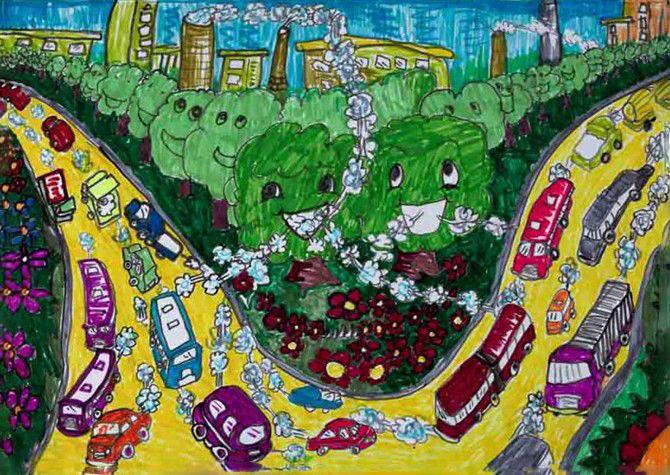 森林家园_起跑线儿童画图片