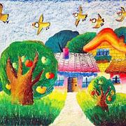 绿色家园儿童画