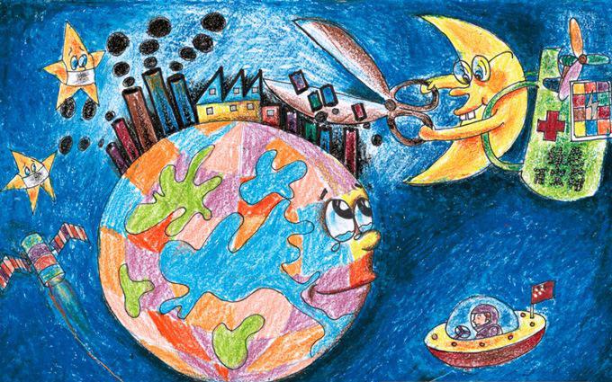 如果我们不赶紧改变,那么地球的环境污染就会越来越严重,所以小朋友们