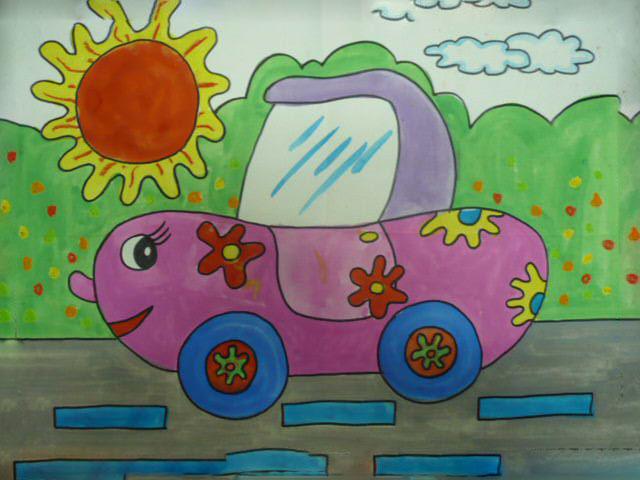 春天风景幼儿画创意画