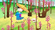 春夏秋冬儿童画-春暖花开