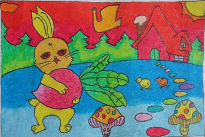 二年级看图写话小白兔采蘑菇展示