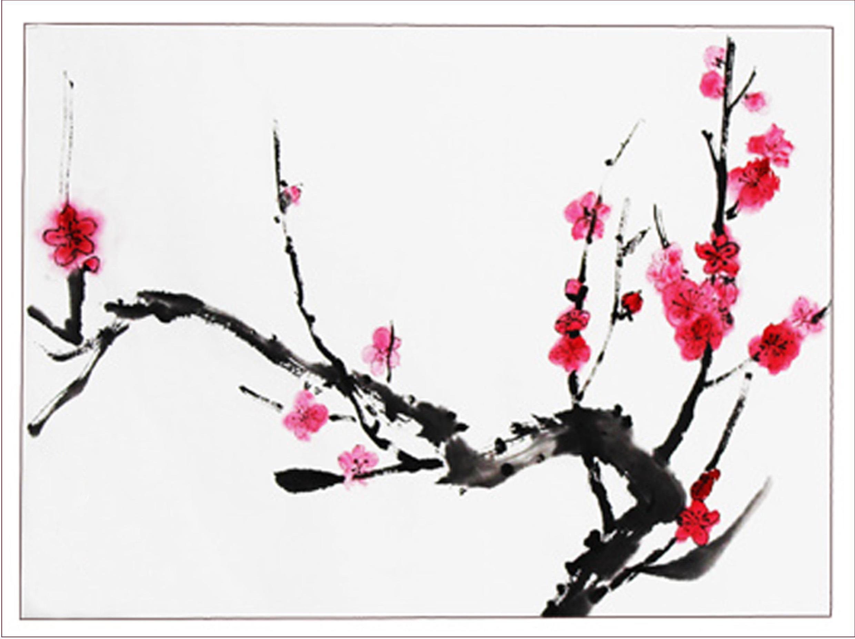 梅花朵朵开_起跑线儿童画