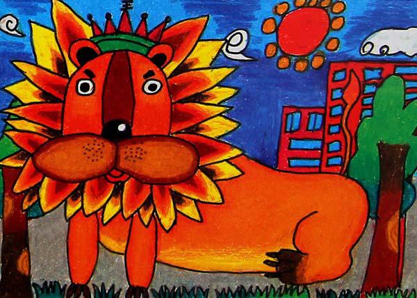 狮子王2_起跑线儿童画