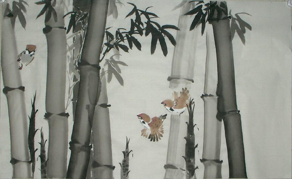 竹子的儿童画-楠竹
