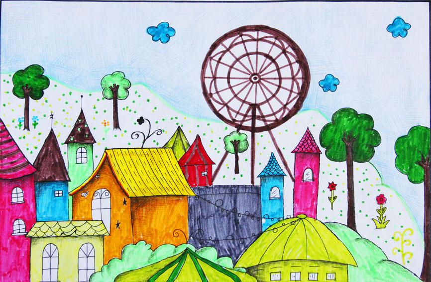 """我要画一张家乡是""""美丽文具""""的手抄报,(要写关于铁力的)画?门口主题小学图片"""