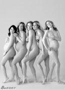 温情的裸体孕妇摄影