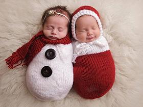 新生儿庆祝第一个圣诞