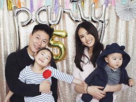 李小鹏庆奥莉5岁生日