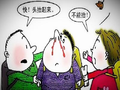 宝宝鼻出血的救治方法